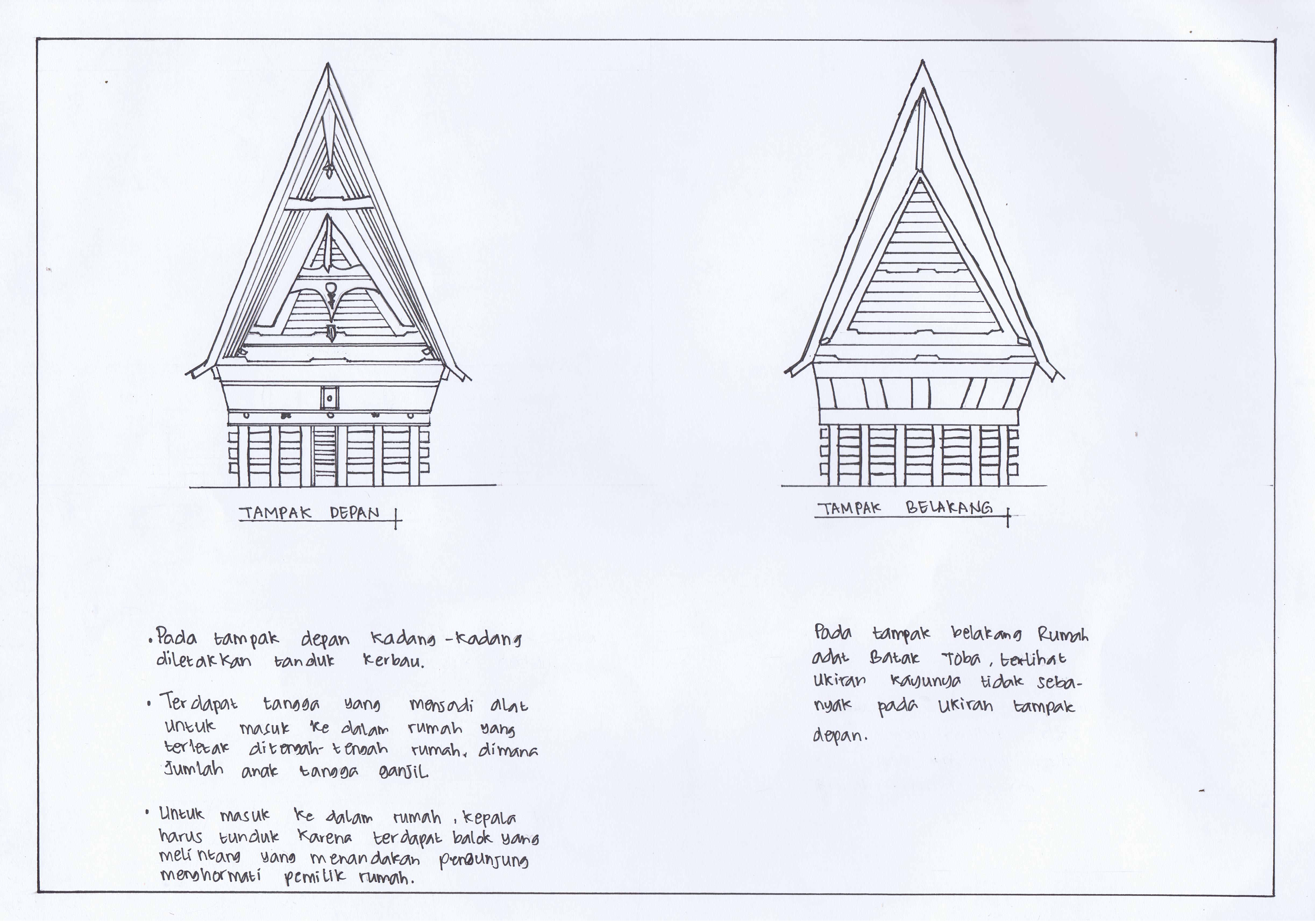 Sketsa Gambar Rumah Adat Batak Toba Rumah Adat Indonesia